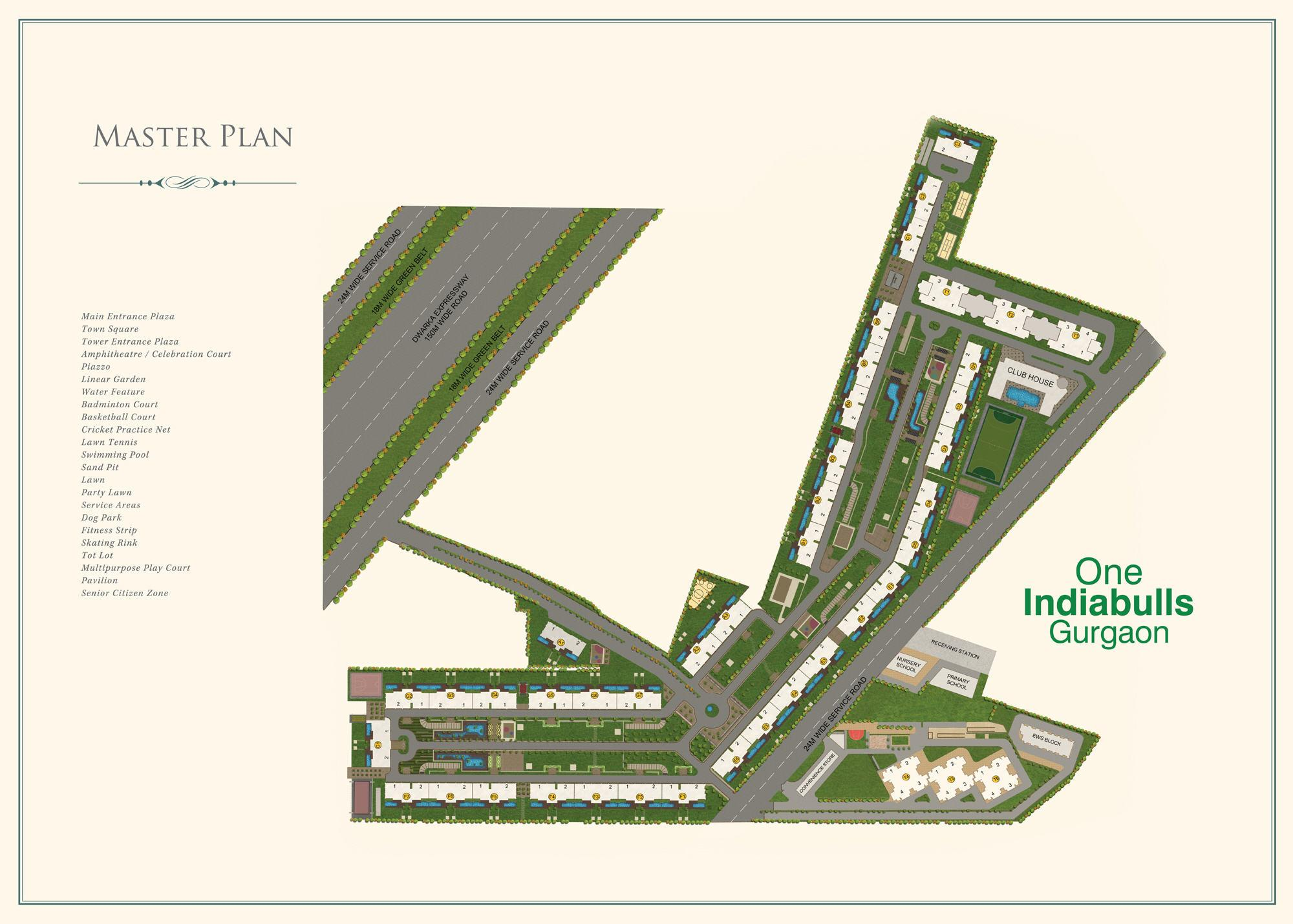 Site plan of One Indiabulls