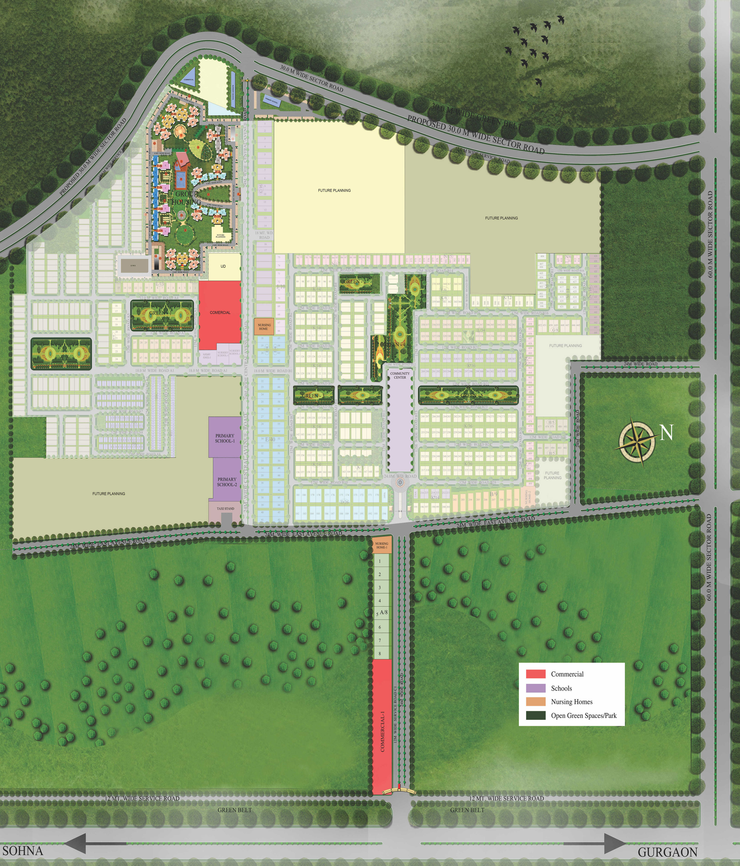 Supertech Hill TOwn site plan
