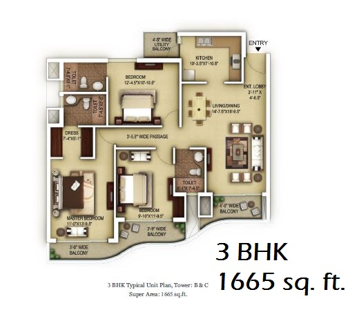 3bhk paras dews sector 106 gurgaon