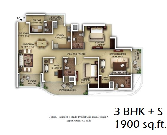 3bhk t3 paras dews sector 106 gurgaon