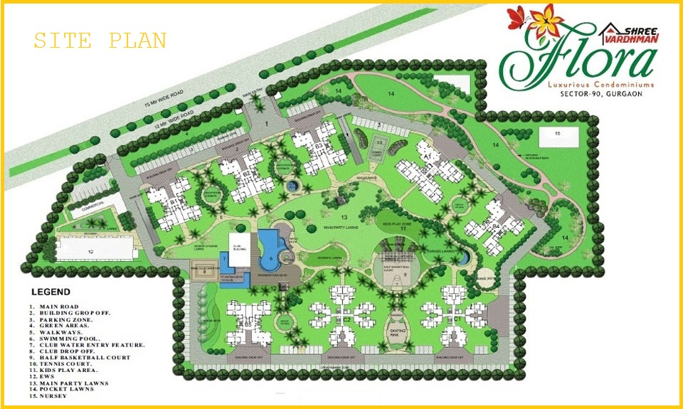 Shree Vardhman Flora Gurgaon Site Plan