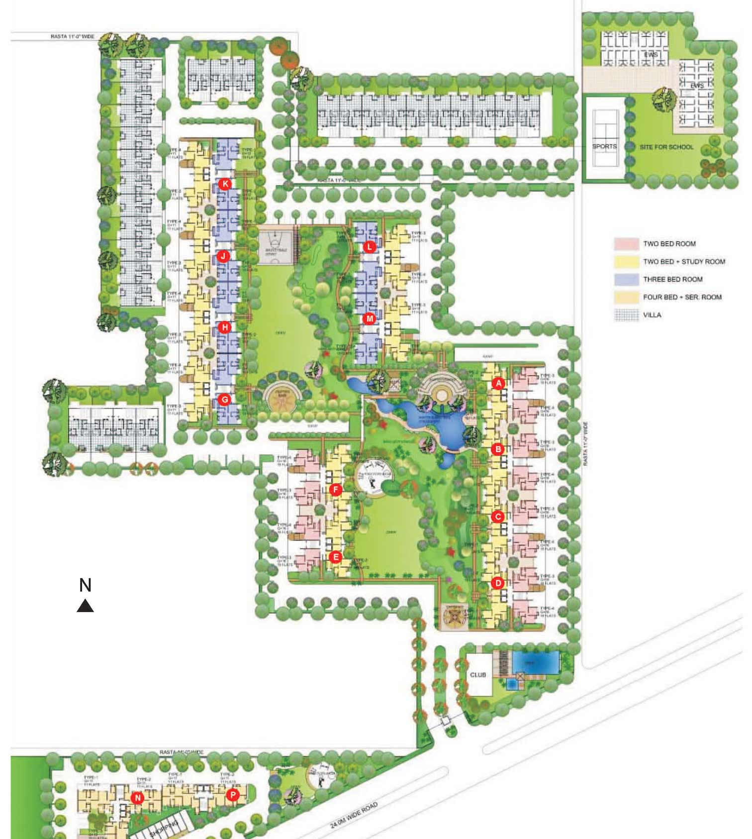 Site Plan Fernhill Gurgaon