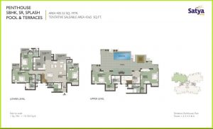 5 BHK Penthouse Floor Plan