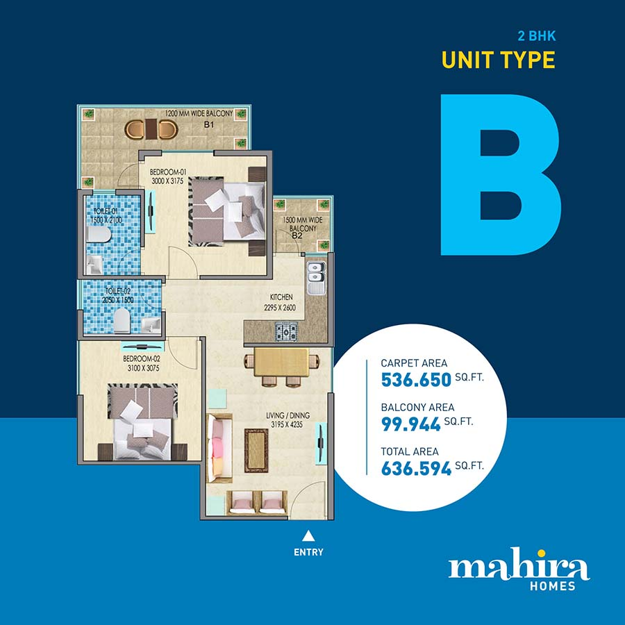 Mahira Homes Sector 68 Gurgaon Floor Plan B