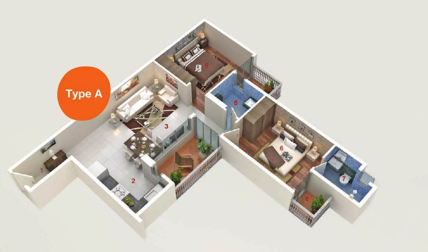 AASHIYARA floor plan type a