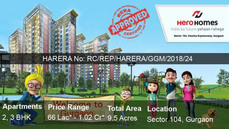 hero homes gurgaon sector 104 banner