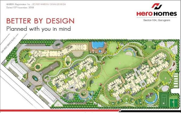 hero homes gurgaon site plan