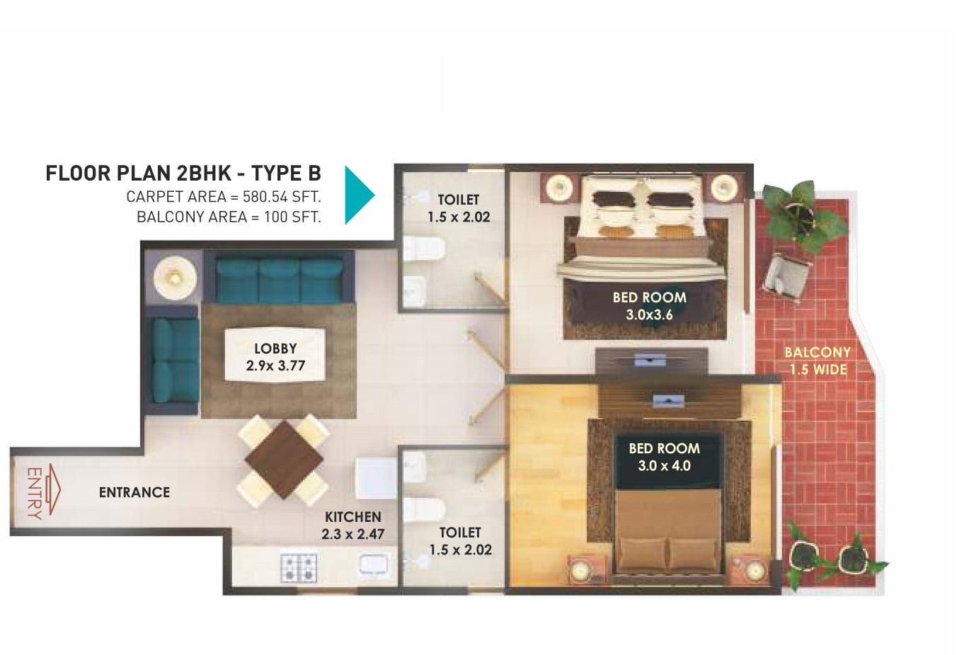 pyramid fusion homes floor plan 2bhk b