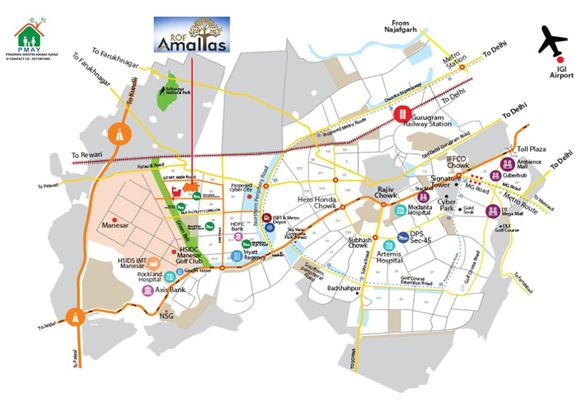 ROF Amaltas sector 92 location map (2)