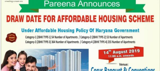 Pareena Om Apartments Draw Results