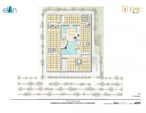 first floor plan elan epic sector 70 gurgaon