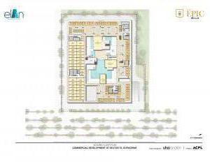 second floor plan elan epic sector gurgaon