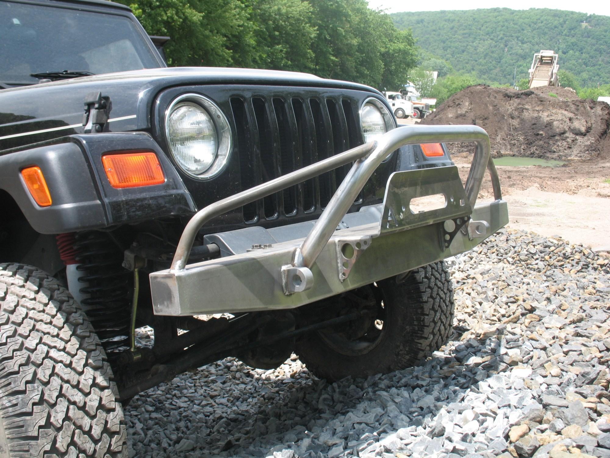 hight resolution of elite prerunner winch front bumper jeep cj yj tj lj 54 06 affordable offroad