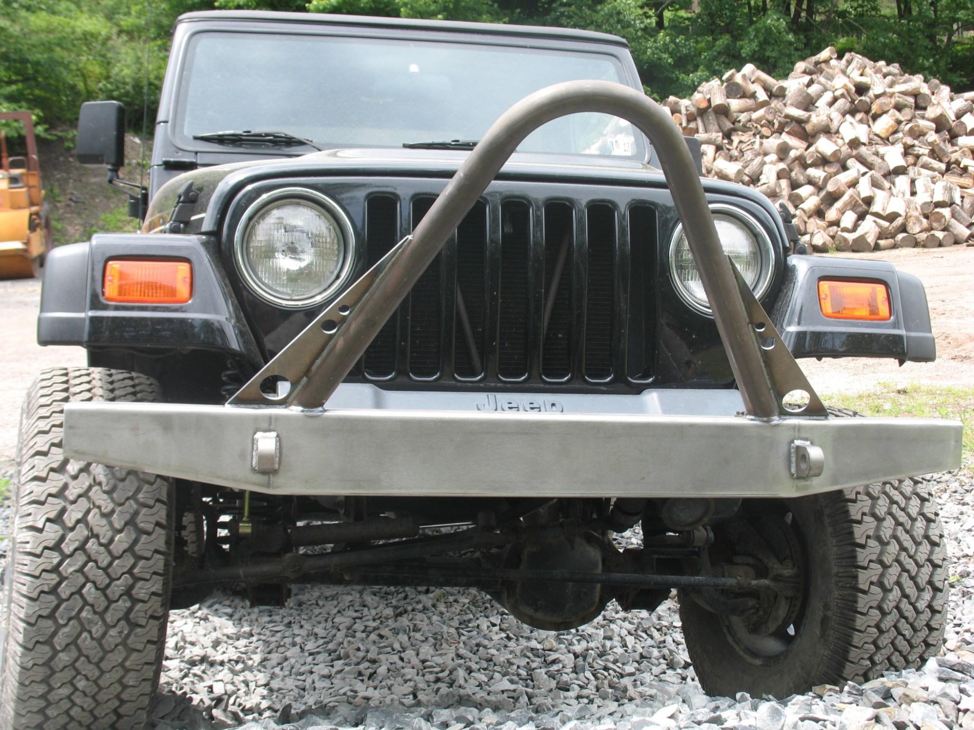 hight resolution of elite stinger front bumper jeep cj yj tj lj 54 06 affordable offroad