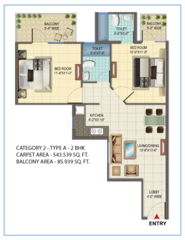 Signature Orchard Avenue 2bhk type a