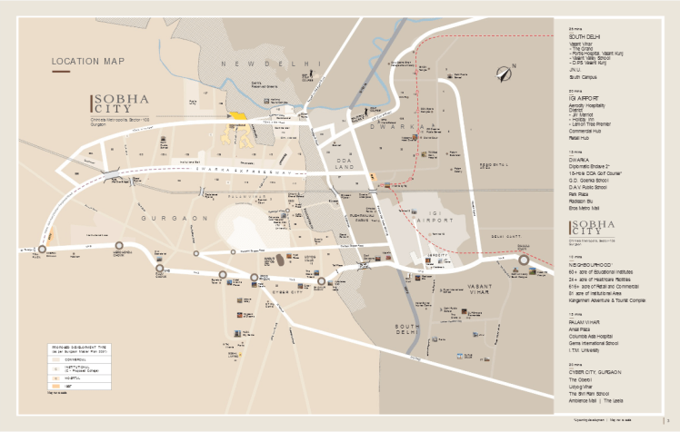 Sobha City Location Map