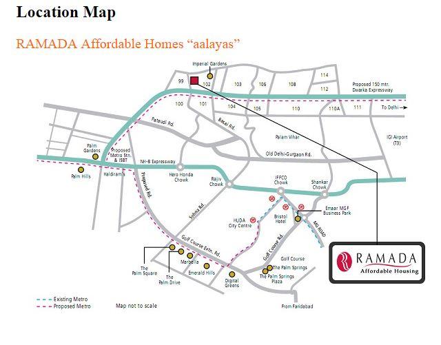 Ramada Location Map