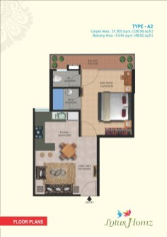 Type A2 - 1Bhk