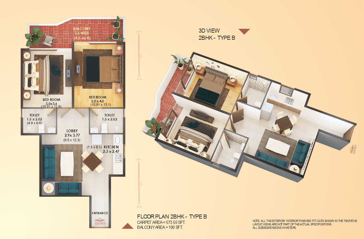 Elite 2BHK Type B