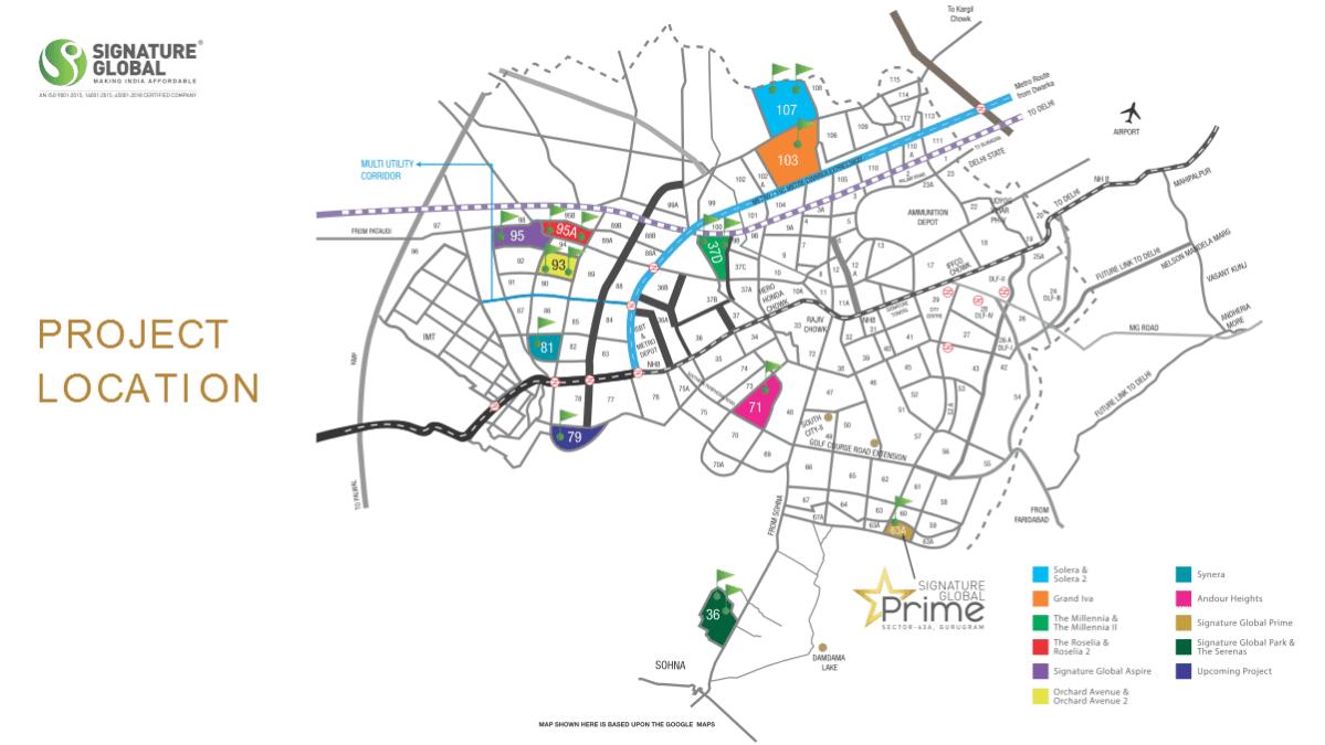 Signature Prime location map