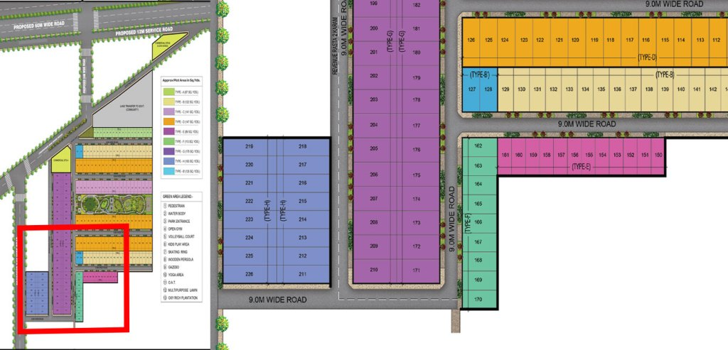 Normal Plots Site Plan