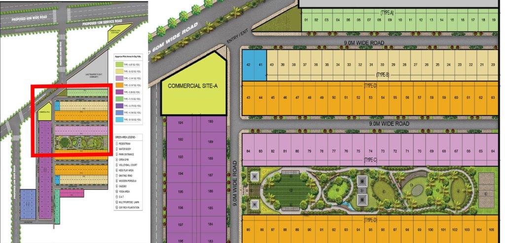 Garden Facing 1 Plots Site Plan