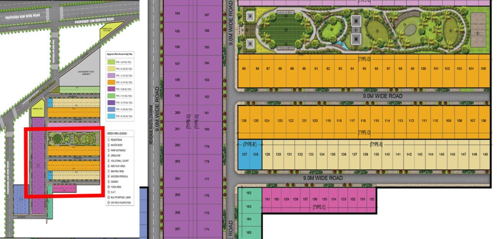 Garden Facing 2 Plots Site Plan