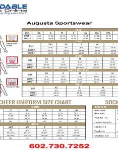 Augusta sportswear size chart also rh affordableuniformsonline