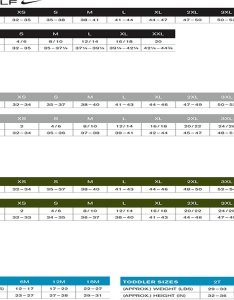Eddie bauer size chart also rh affordableuniformsonline
