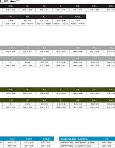 Nike golf size chart also rh affordableuniformsonline