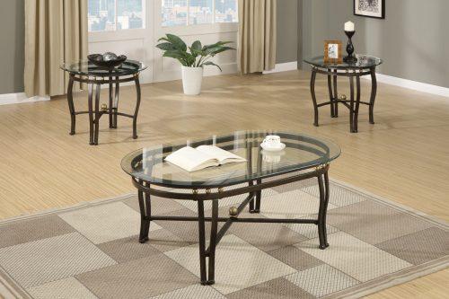 3 Piece Coffee Table SetBronze