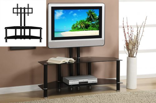 Black TV Stand Metal