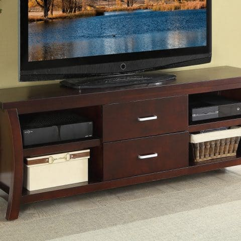 TV Stand Espresso With Drawers