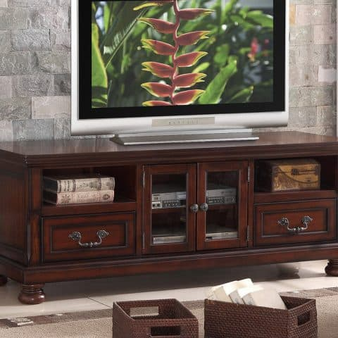 TV Stand Cherry With Doors