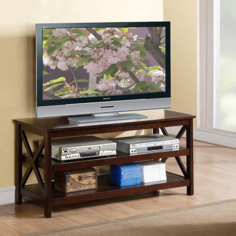 TV Stand Wood In Espresso