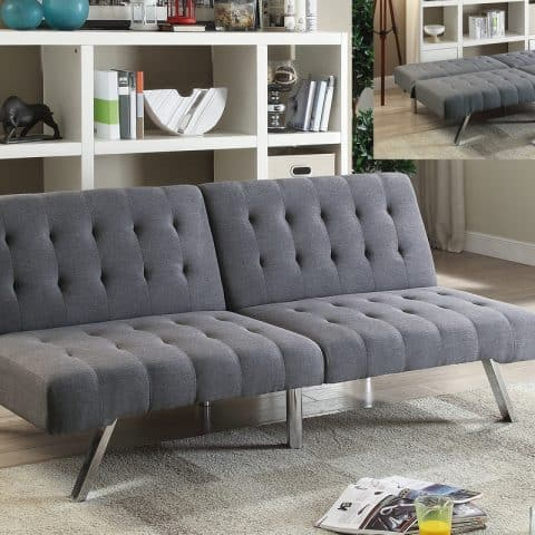 Futon Blue Grey Fabric