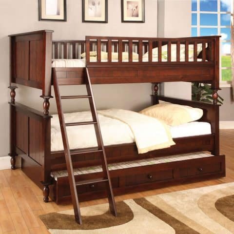 Cherry Twin Over Twin Bunk Bed