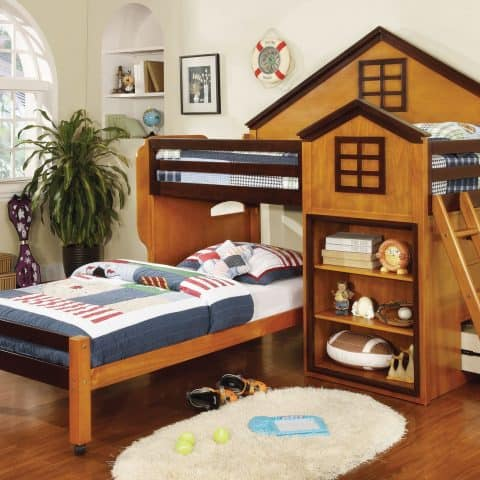 Twin Over Twin Loft Bunk Bed House