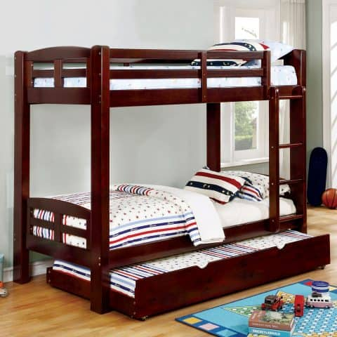 Dark Walnut Twin Over Twin Bunk Bed