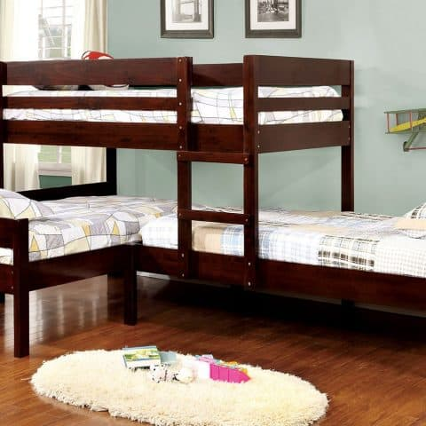 L Shaped Twin Bunk Bed