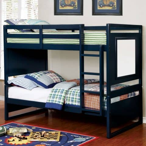 Blue Twin Over Twin Bunk Bed