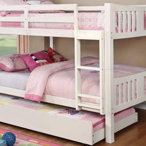 white Full Over Full Bunk Bed