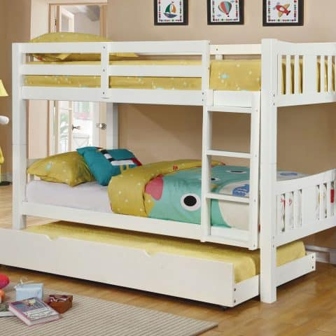 White Twin Over Twin Bunk Bed