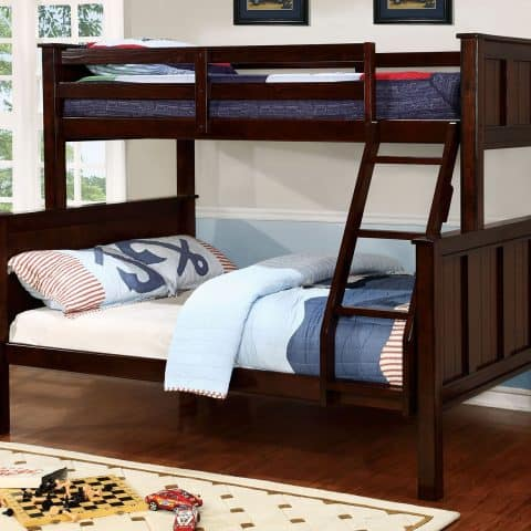 Dark Walnut Twin Over Full Bunk Bed