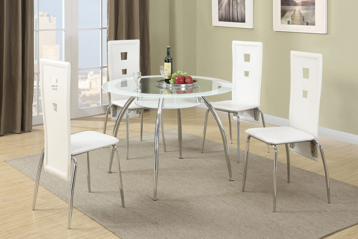 White modern dining table set affordable home furniture
