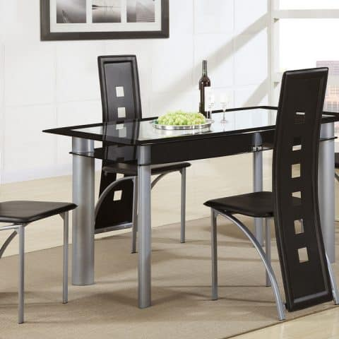 Dinette Set Rectangular Glass Table