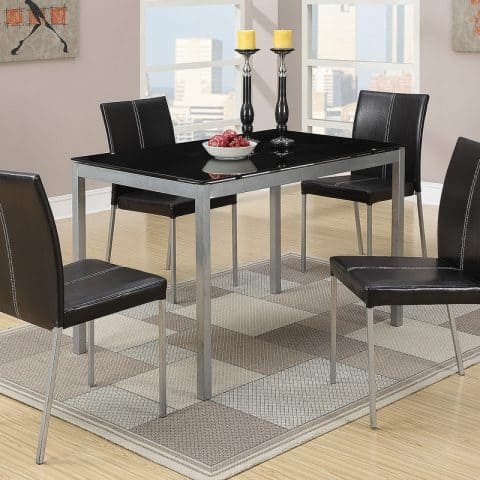 Black Glass Table Top Dinette