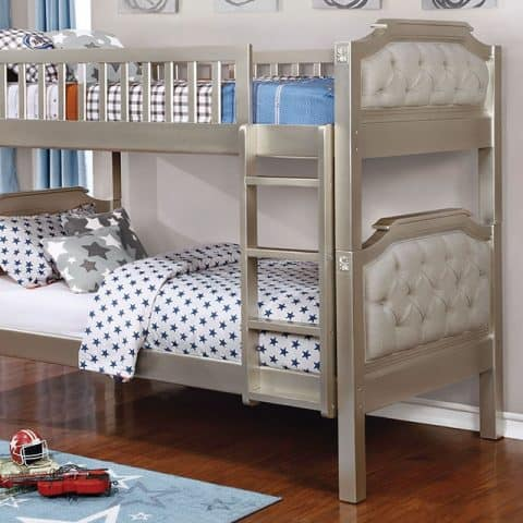 Champagne Twin Over Twin Bunk Bed