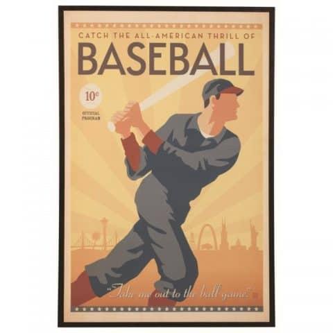 Wall Art Baseball Swing