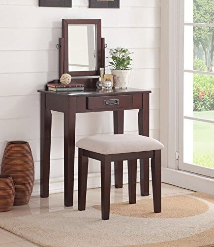 Small Vanity With Stool & Mirror